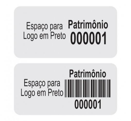 Etiqueta de patrimonio preço