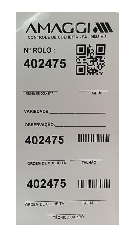 Etiquetas adesivas personalizadas preço
